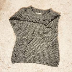 Aeropostale Gray Knit Sweatshirt